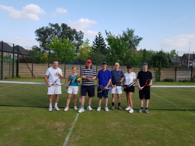 Photo of the Chilwell Tennis Club members